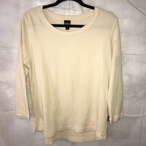 Patagonia Organic Cotton 3/4 Sleeve Top Large